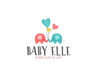 Elephant Baby Logo Baby Boutique Logo