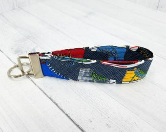 Key Wristlet - Key Fob - Key Ring - Vera Bradley style - Tennis shoes - Sneakers - Gift for Teacher, Dog Lover, Best Friend, Mom, Pet Sitter