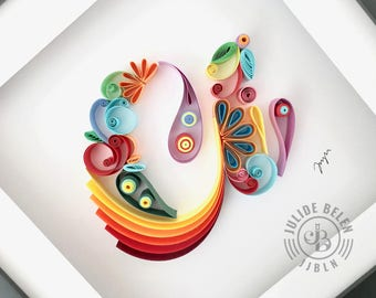 JJBLN | Quilled Paper Art By Julide Belen: Lowercase A - Quilling Wall Decor Artwork