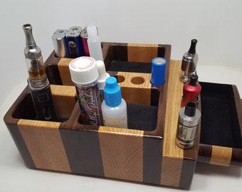 E- Cigarette ECig  Vape  stand (EC0673)   (3)  Box Mod, Sigelei 213, Reuleaux RX200  + others, Tanks  Batteries - E-juice  Unicorn Bottles