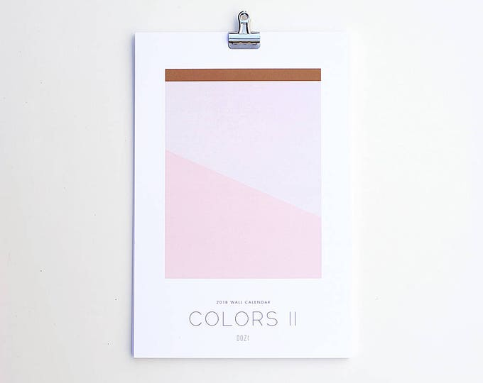 2018 Wall Calendar - Colors II