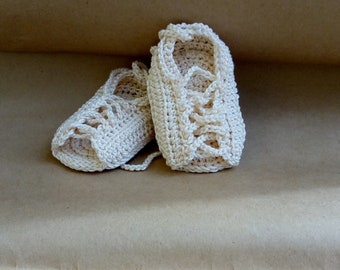 Baby gladiator Shoes, Baby Gladiator Sandals, Crochet Baby Shoes, Beige Baby Shoes, Newborn shoes, Crochet newborn shoes, Cotton Baby Shoes
