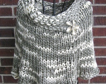 Quick Knit Capelet Knitting Pattern