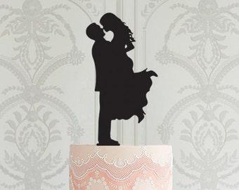Wedding Cake Topper, Cake Topper Silhouette, Bride and Groom, Personalised Cake Topper, Custom Cake Topper, Bridal Shower Party Decor