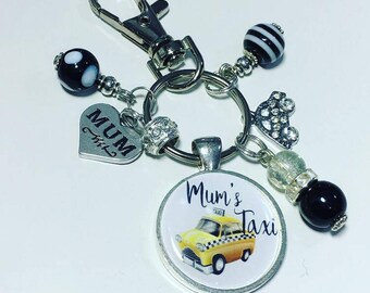 Mum's Taxi keyring, Mum taxi keyring, Mother's day gift, gift for Mum,