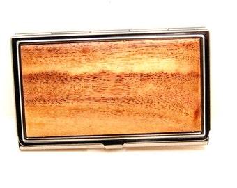 Handmade Wood Business Card Case Card Holder Acacia Wood