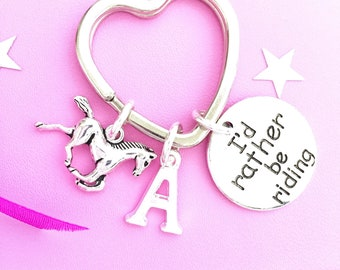 Horse Rider Key ring, I'd rather be riding, Gift for Horse Lover, Horse Charm, Gift for Her, Horse Rider Gift