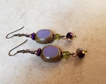Purple Hip Earrings