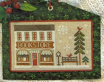 The Bookstore by Little House Needleworks Counted Cross Stitch Pattern/Chart