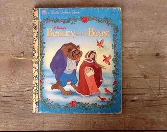 beauty and the beast notebook from a little golden book