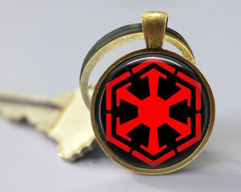 Sith Empire Symbol Star Wars Inspired Glass Pendant, Photo Glass Necklace, Glass Keychain
