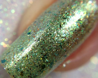 Persephone  - The Goddess Collection - Green and Blue Multichrome Nail Polish, Vegan and Cruelty Free