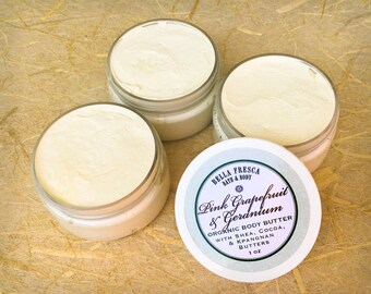 NEW Organic All Natural Body Butter— Available in 2 essential oil blends • natural skin care for very dry skin, Woman, Wife Girlfriend gift