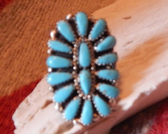 size, 8, ring, turquoise ring, sterling turquoise, southwestern, New Mexico,  petite point  womens, gift, Texas, quarter horse