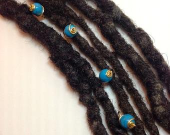 Turquoise Hair Pin Set Bead Jewelry Locs, Dreadlocks, Braids and Twists
