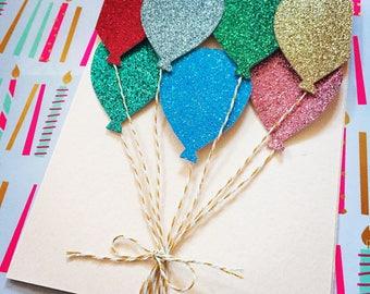 Sparkly birthday or congratulations handmade greeting card