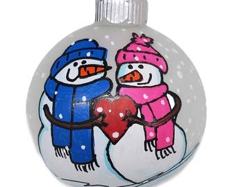Couple Ornament- Personalized  Ornament - Personalized Ornament - Married Ornament - Family Ornament - Custom Ornament - 1st Christmas