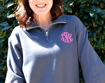 Monogrammed Quarter Zip Pullover-NOW Sizes Up TO 3X
