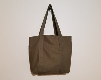 Tote Bag / Upcycled / Greenish Brown