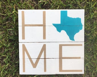 Home sign Texas sign housewarming gift hometown going away gift home is where the heart is sign state sign home state sign new home