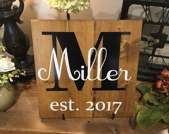 "Personalized Name Wooden Wall Plaque - 12"" x 12"" x 3/4"""