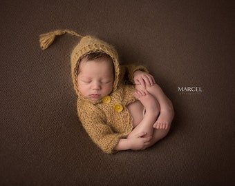 Knitted Mohair New Born Sweater, New Born Boy Prop