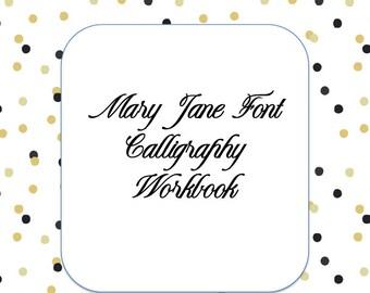 Calligraphy Workbook Calligraphy Worksheets Hand Lettering Modern Calligraphy Worksheets, Calligraphy Lessons, Brush Lettering Worksheets