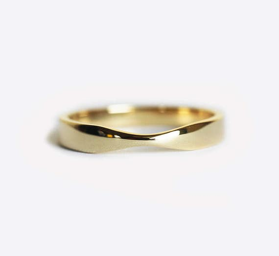 Yellow Gold Wedding Ring Gold Womens Wedding Band Simple