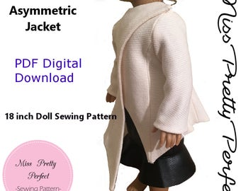 18 in Doll Jacket PDF, Jacket, PDF, Doll Jacket Pattern, 18 Inch Doll Clothes, 18 Inch Doll Jacket, Instant Download, Doll Patterns, Digital