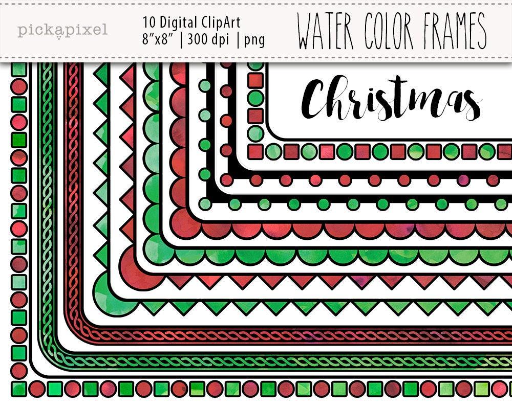 Weihnachten Frames quadratische Rahmen Clipart digitale