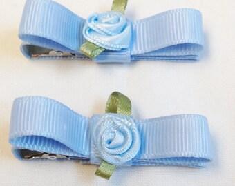 Blue Hair Clips | Toddler Hair Clips | Girls Hair Clips | Toddler Blue Clips | Solid Color Clips | Girls Blue Hair Clip