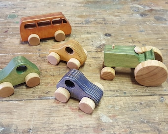 Wooden Toys / Montessori Toys / Wooden Car / Wooden Van / Wolkswagen Toy /  Toy for toddler / Waldorf Toy / Birthday gift / Baby shower Gift