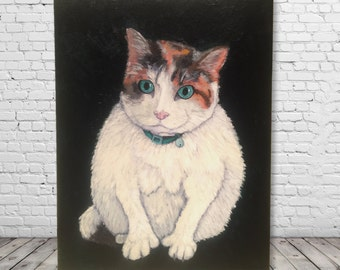 Custom Pet Portrait - Original Acrylic Painting - hand painted