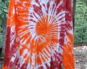 Orange Spirals/Short Sleeve