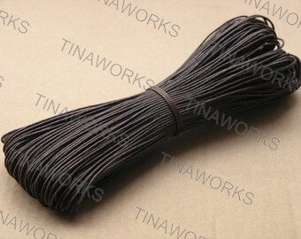 95Yards of Size 1.0mm Dark Brown Waxed Cotton Cord for Bracelet/Necklace Making