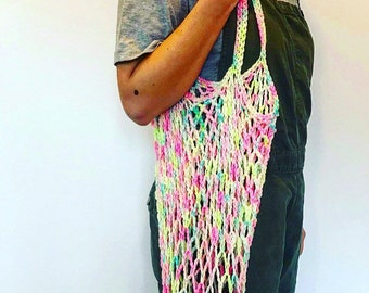 Crochet market bag, eco shopper, mesh shopper,