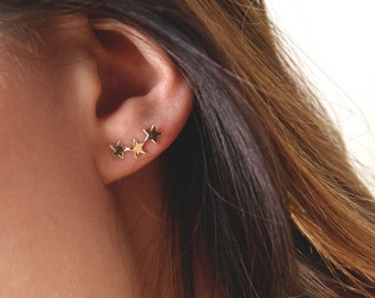 Asterisk crawler earrings