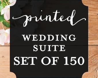Printable Wisdom - Printed Wedding Invitation Suite - Set of 150