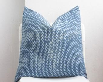Indigo Block Print Hmong Pillow Cover