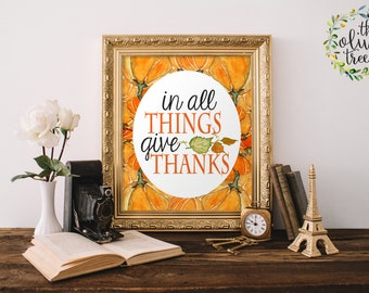 Fall Art print, Autumn Holiday wall art decor, Thanksgiving Print, INSTANT DOWNLOAD - Fall is in the air
