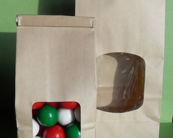 36 Kraft Tin-Tie One Pound Favor Bags, Wedding Tin-Tie Large Favor Bags, Kraft lined Favor Bags, Candy Bags, Popcorn Bags, Cookie Bags