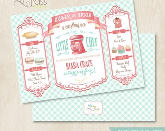 Custom Birthday Party Invitation by Mulberry Paperie - Little Chef