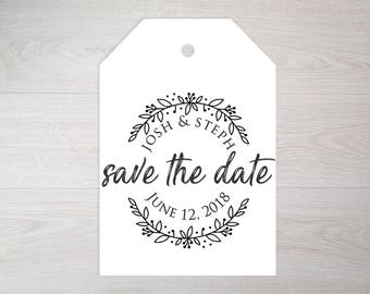 Save the Date Stamp, Wedding Stamp, Custom Wedding Stamp, Custom Stamp, Rubber Stamp, Personalized Stamp, Save the Date --25161-CB17-000