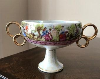 Vintage, Porcelain Pedestal Bowl