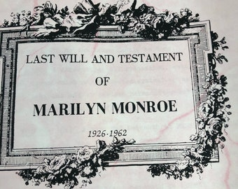 Marilyn Monroe Last Will And Testament