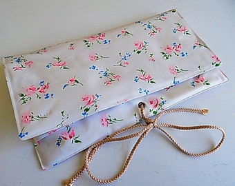 Vintage Organizer Plastic Floral Made in Japan
