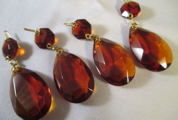 4 amber crystal prisms 38mm 2 part amber chandelier crystal prisms 4 amber crystal prisms 38mm 2 part amber chandelier crystal prisms with top bead amber glass crystals from yourcrystaldream on etsy studio aloadofball Choice Image