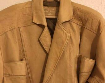 Vintage Yellow Moto Jacket
