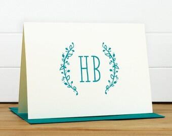 Stationery - SPRIG Personalized Stationery Set - Personalized Stationary Set - Custom Personalized Notecard Set - Monogram Bridal Gift
