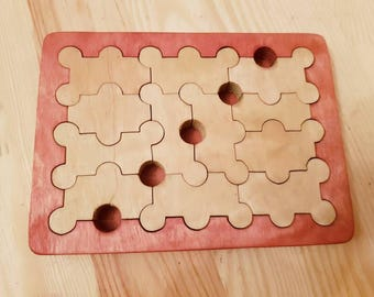 Wooden Jigsaw puzzle DOMINO